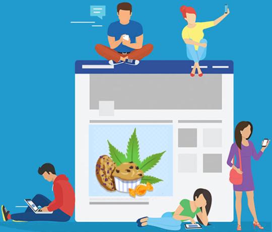 edibles social media marketing
